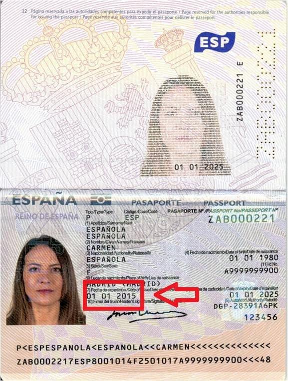 Fecha expedición pasaporte